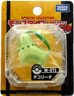 Chikorita Figure Takara Tomy Monster Collection M series