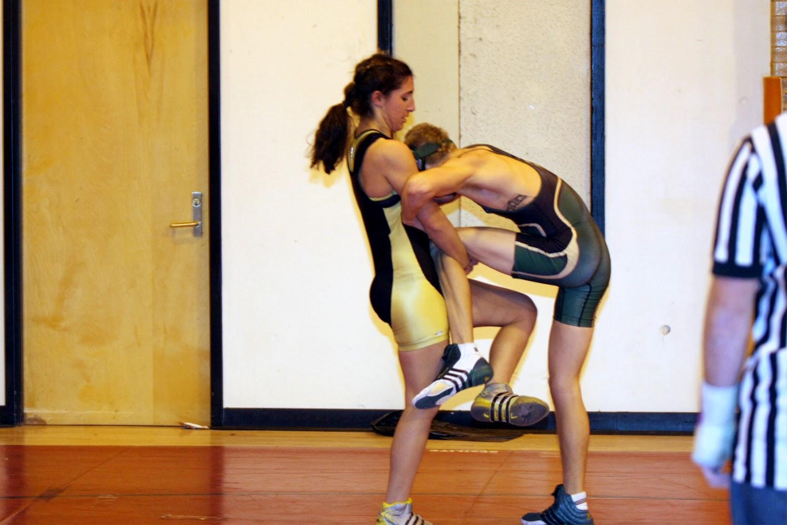 Men Wrestling Women Female College Wrestler Battles A -4365