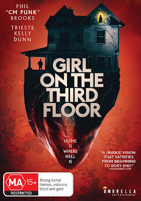 Cover art for Umbrella Entertainment's Blu-ray release of GIRL ON THE THIRD FLOOR.