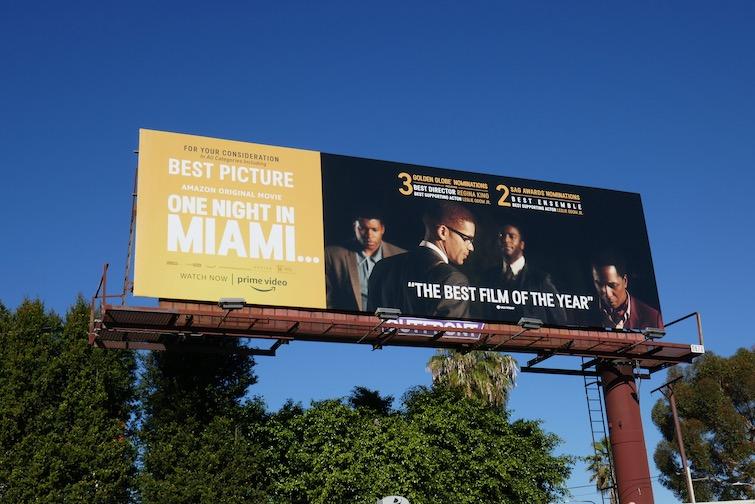 One Night in Miami SAG Award billboard