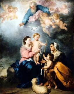 "Murillo - La Sagrada Familia, llamada ""La Virgen de Sevilla"" - Museo del Louvre"