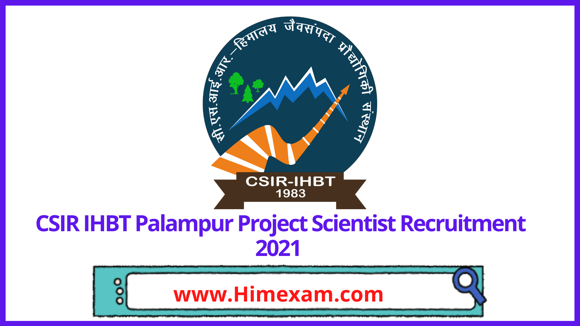 CSIR IHBT Palampur Project Scientist Recruitment 2021