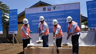 Chevron Bangun Fasilitas Kesehatan di Lombok
