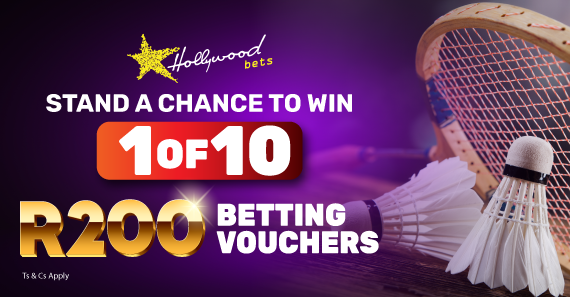 Stand a chance to win 1 of 10 R200 betting vouchers