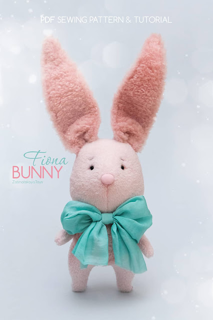 Baby bunny plush Easter crafts and ideas