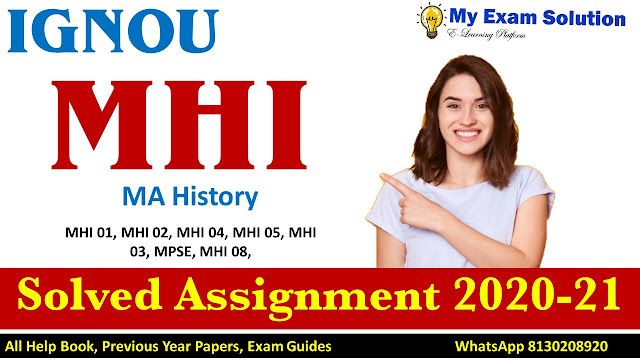 IGNOU MHI Solved Assignment, IGNOU MHI Solved Assignment 2020-21; mhi solved assignment; mhi assignment