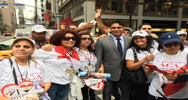 احمد ابو هشيمة يستقبل السيسى فى نيويورك