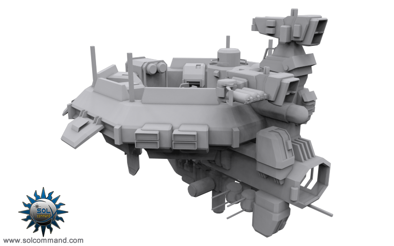 space station void destroyer motherbase combat civillian industrial design original concept art 3d model game