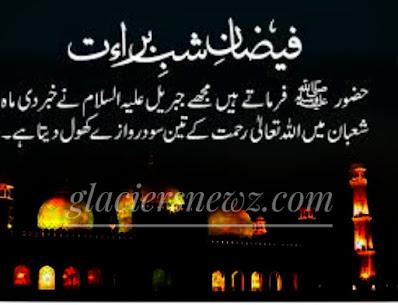Shab-e-Barat:Night Of Blessings,Barat Night With Some Reference Hadiths,Shab e Barat