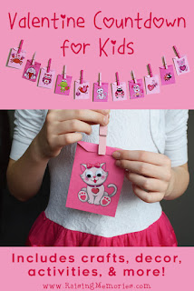 Valentine Activity Countdown or Advent for Kids