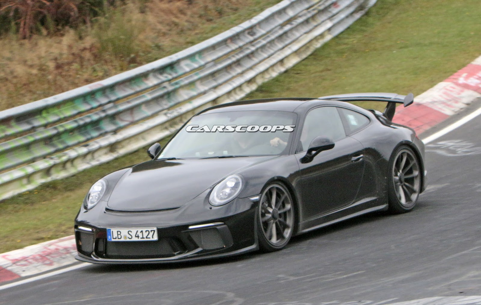 Facelifted 2017 Porsche 991 Gt3 Spied Completely Free Of