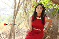 Telugu Actress Zahida Sam Latest Pos in Red Gown at RF Films New Movie Opening  0272.JPG