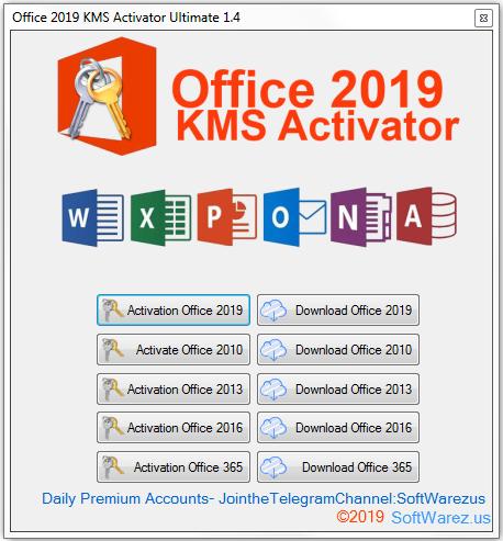 Screenshot Office 2019 KMS Activator Ultimate 1.4