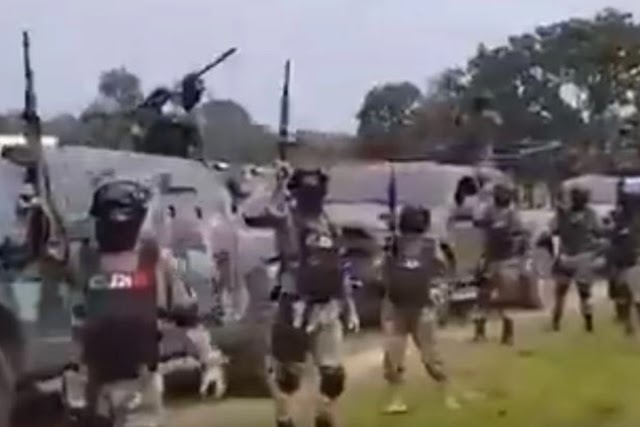 Terrifying video shows Mexican cartel soldiers showing off their heavy weapons