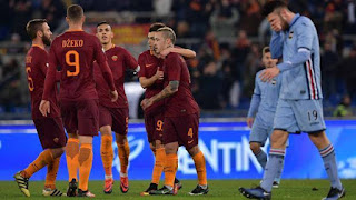 Coppa Italia Roma Sampdoria 4-0 ampia sintesi video