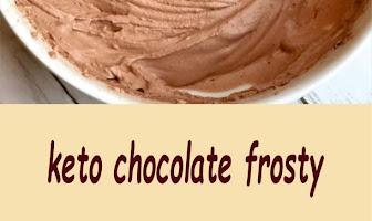 keto chocolate frosty