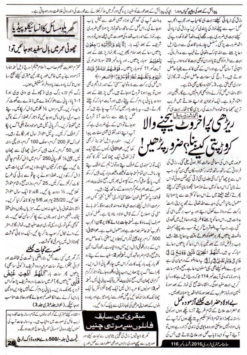 Page 26 Ubqari Magazine February 2016