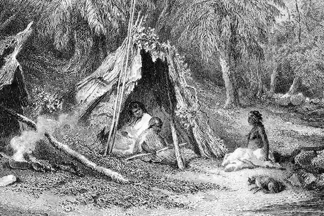 Avcı-toplayıcı insanlar, yaprak ya da otlarının üzerine hayvan derisi sererek kendilerine yatak yapıyorlardı.