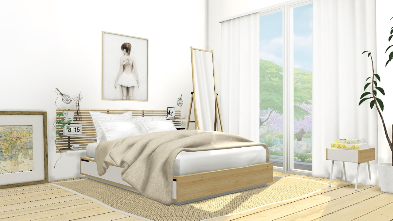My Sims 4 Blog: IKEA Mandal Bedroom Set by MXIMS