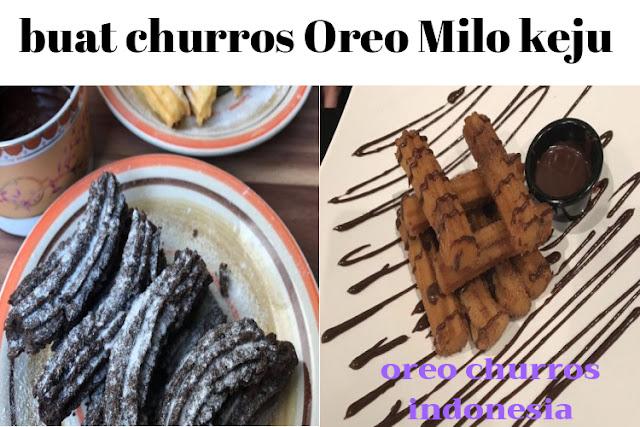 cara membuat churros instan dari Oreo Milo keju Ala indonesia