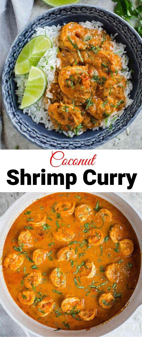 Coconut Shrimp Curry #Coconut #Shrimp #Curry Dinner Recipes Healthy, Dinner Recipes Easy, Dinner Recipes For Family, Dinner Recipes Vegan,