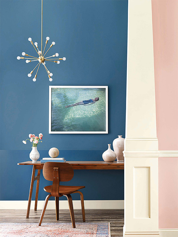 sherwin williams inky blue walls