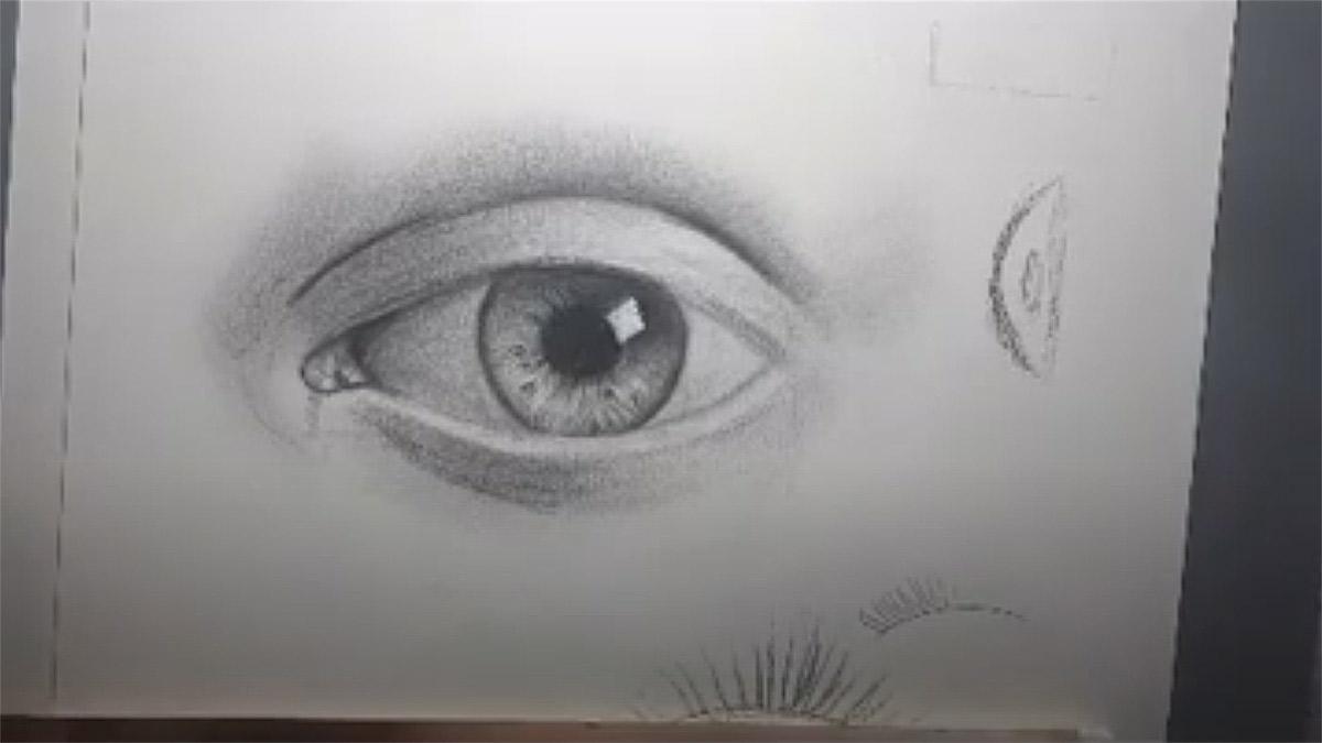 Tutorial: aprenda a desenhar o olho humano passo à passo