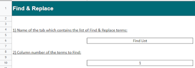 Input is required in the 'Welcome' sheet to connect the tool with your data.