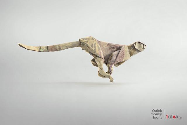 1Click.ge Cheetah Origami Print Advertisement