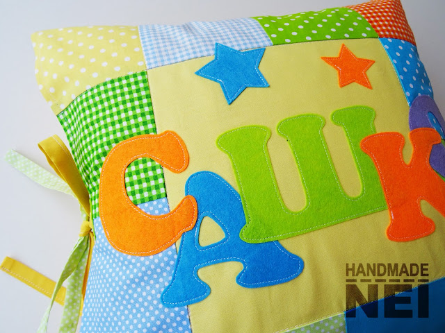 "Handmade Nel: Пачуърк калъфка за възглавница ""Сашко"""
