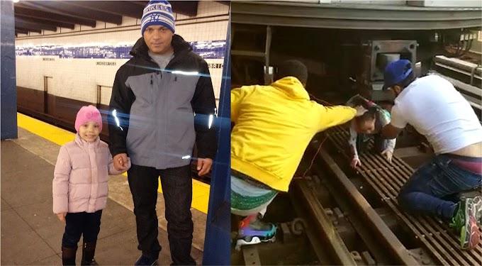 """""""¡Con Dios con Dios, aquí viene el tren!"""",  exclamó dominicano que se suicidó en el metro tratando de matar  su hija"""