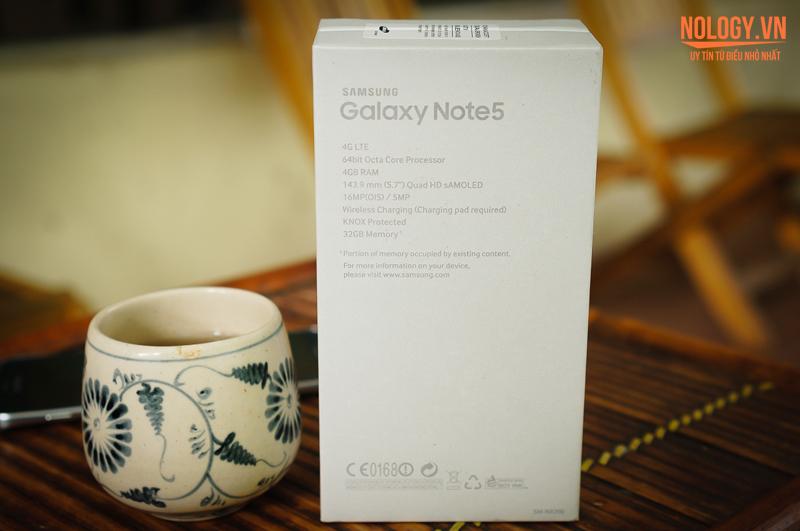 Vỏ hộp của Samsung Galaxy Note 5 2 sim
