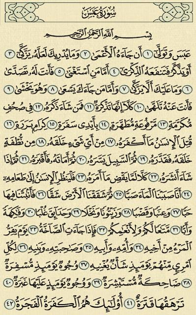 ,شرح وتفسير, سورة, عبس surah Abasa,