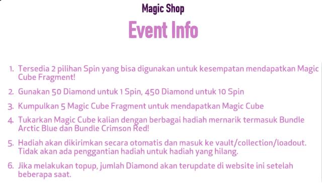 Akhirnya Event Magic Shop telah di rilis Magic Shop 3.0 Bundle Arctic Blue dan Crimson Red Terbaru