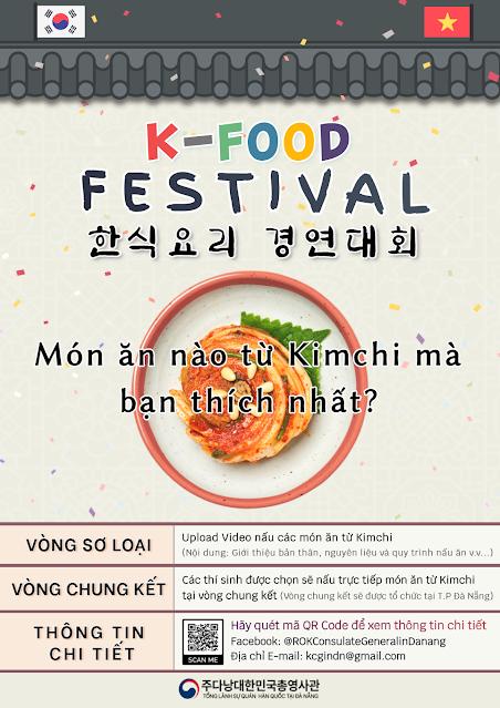 Tổng Lãnh Sự Quán Hàn Quốc tại Đà Nẵng tổ chức K-FOOD FESTIVAL