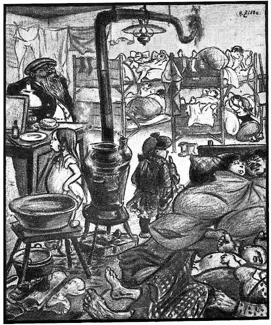 Heinrich Zille 1913, no privacy, crowded living in poverty