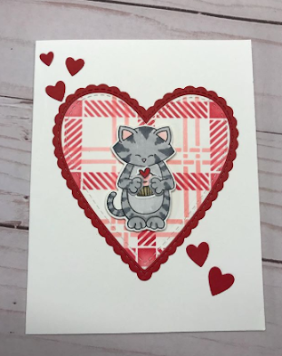 Vicki's card features Sending Hugs and Plaid by Newton's Nook Designs; #newtonsnook