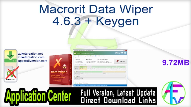 Macrorit Data Wiper 4.6.3 + Keygen
