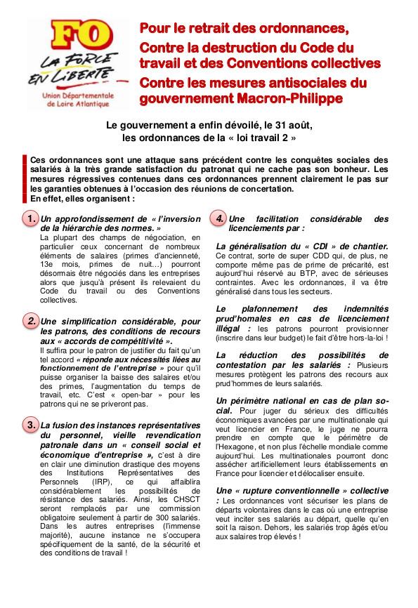 Ordonnances « Loi Travail 2 »