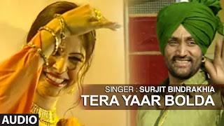 Tu Ni Boldi Tera Yaar Bolda Lyrics