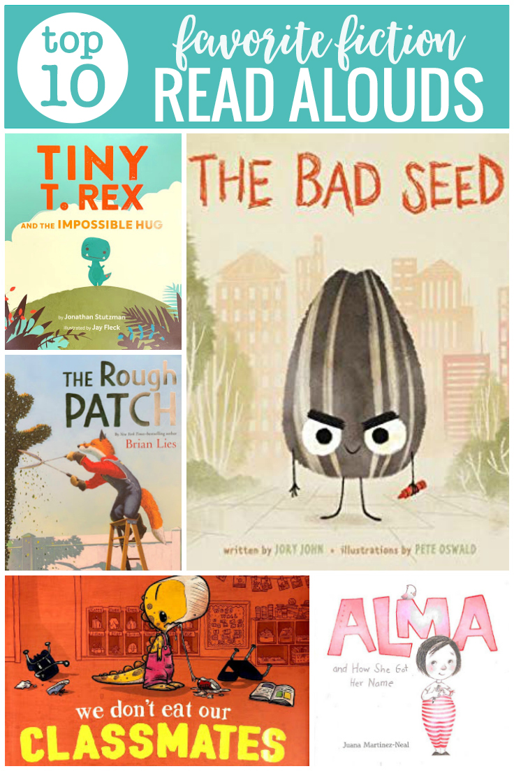 Looking for new favorite picture book read alouds? Take a look a 10 favorite fiction picture book picks from our classroom book a day reads.