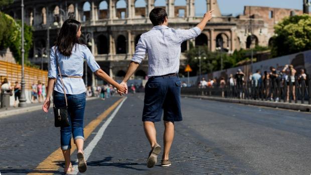 Pouco tempo de viagem por Roma