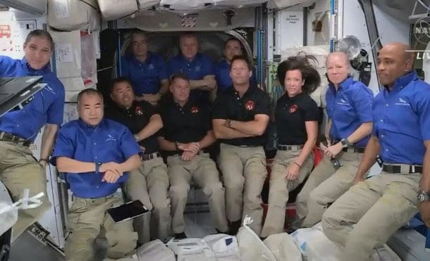 A trip to space in cooperation between NASA and Space X
