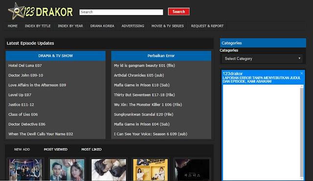 Situs Download Drama, Film, dan Variety Show Korea Subtitle Indonesia Terbaru