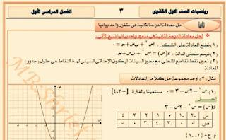 مذكرة الجبر الجديدة للصف الاول الثانوي الترم الاول 2019 للاستاذ شريف دياب
