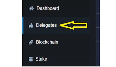 klik delegates menu