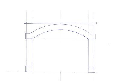 A scale sketch template of a double-wide tunnel portal