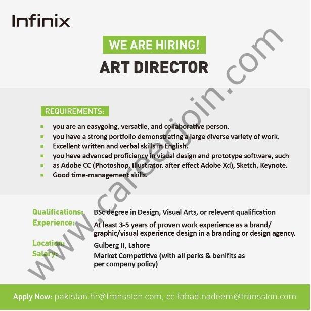 Infinix Pakistan Jobs 2021 in Pakistan