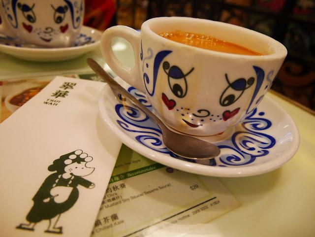 Tsui Wah's famous Hong Kong milk tea