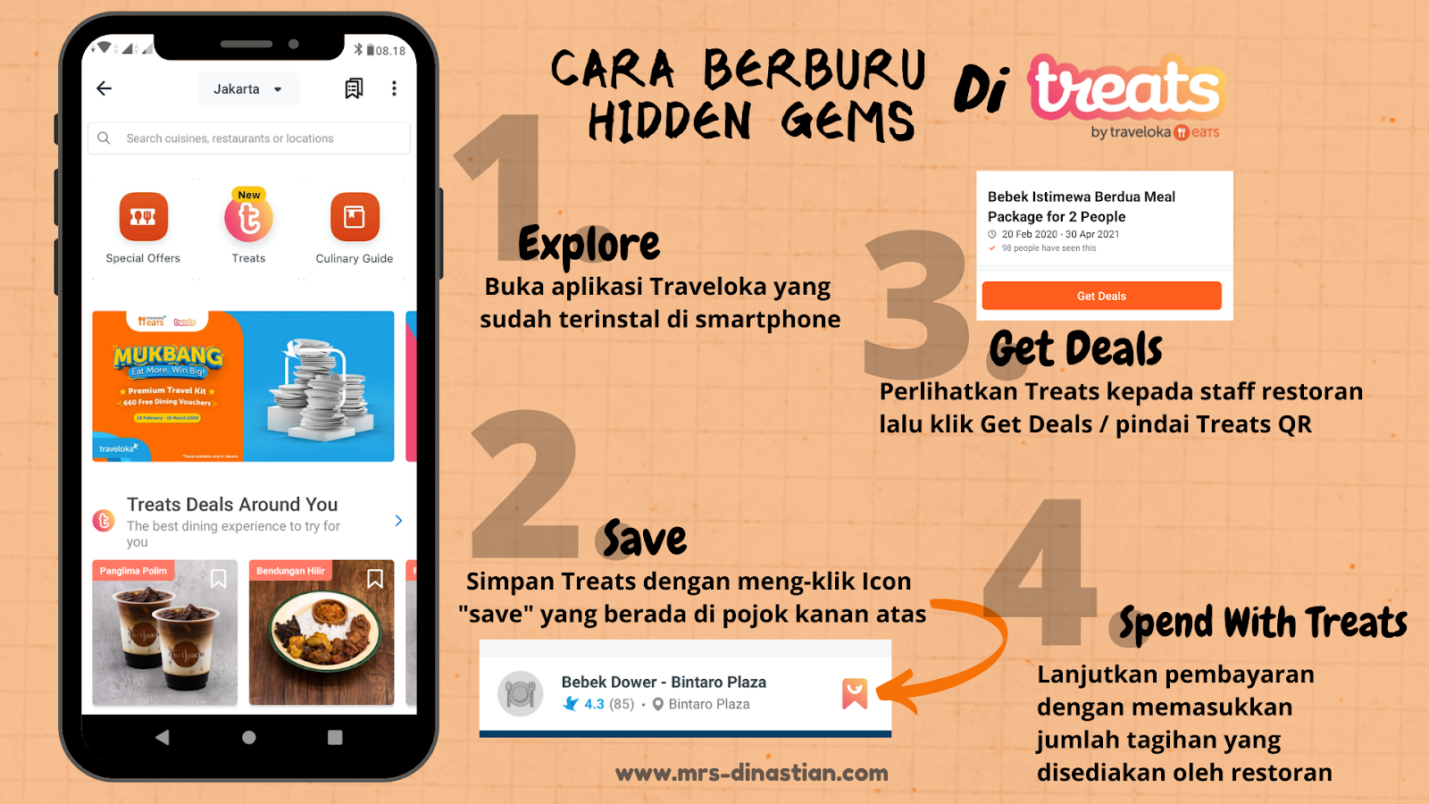 Cara Berburu Hidden Gems Treats By Traveloka Eats